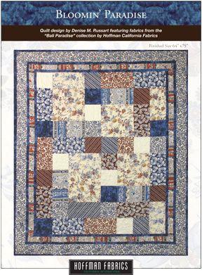 Bali Paradise by Hoffman Fabrics, Bloomin' Paradise FREE quilt ... : hoffman free quilt patterns - Adamdwight.com