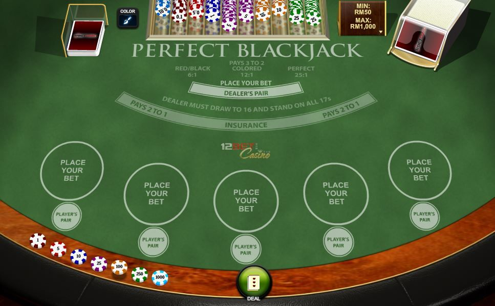 'Perfect Blackjack' for the weekends? onlinecasino