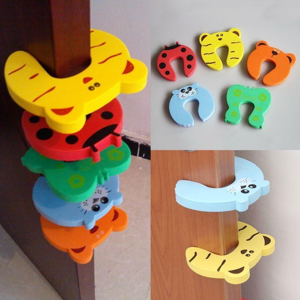 6-10pcs Foam Door Stopper Cushion Holder Guard Finger Protector Child Kids Baby