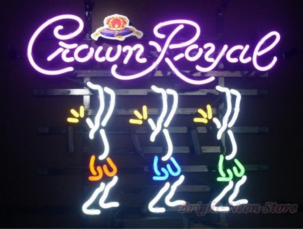 "/""Crown Royal/"" Neon Sign Vintage Boutique Porcelain Pub Gift Custom Beer Store"