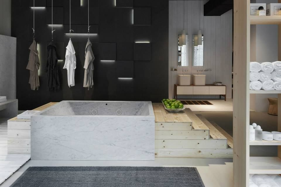 Neutra Flagship Store In Milan Water Wellness Stone Bathroom