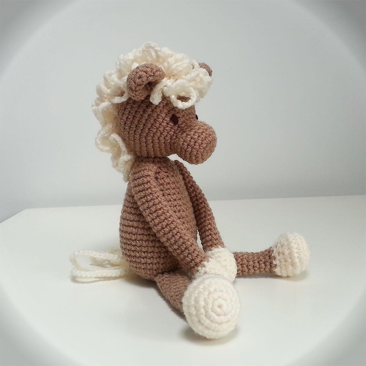 doudou poney au crochet cheval cadeau de naissance amigurumi baptme cuddly toy horse - Cadeau Cheval