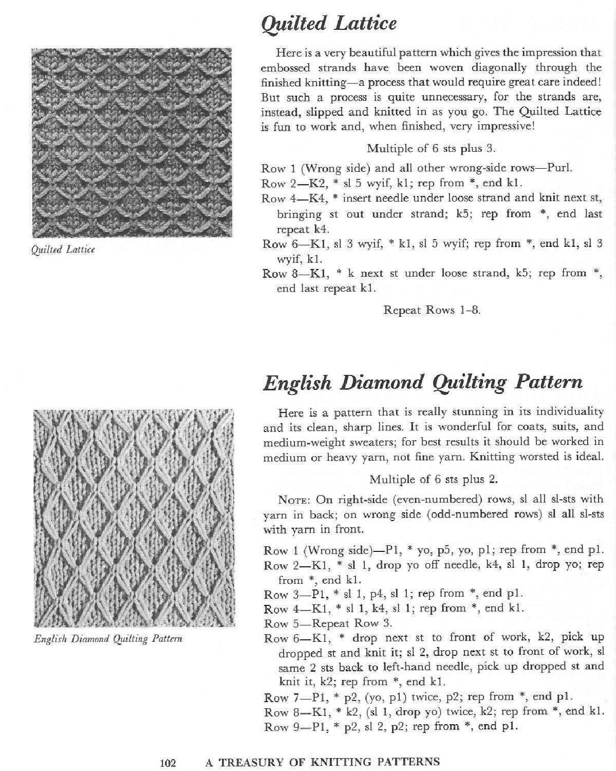 A Treasury of Knitting Patterns by Barbara G. Walker by Orsa Minore ...