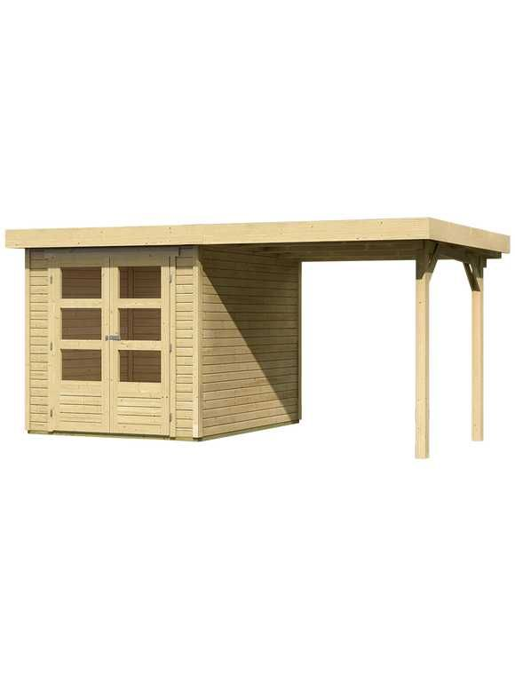 KARIBU Set Gartenhaus »Arnis 2«, Gesamtmaß (BxT) 433x220