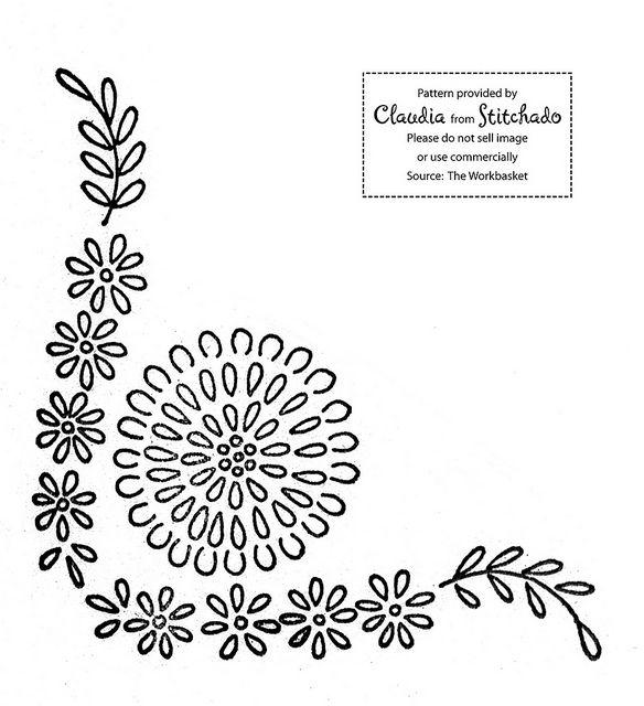 dainty flower | Bordado, Patrones y Dibujo