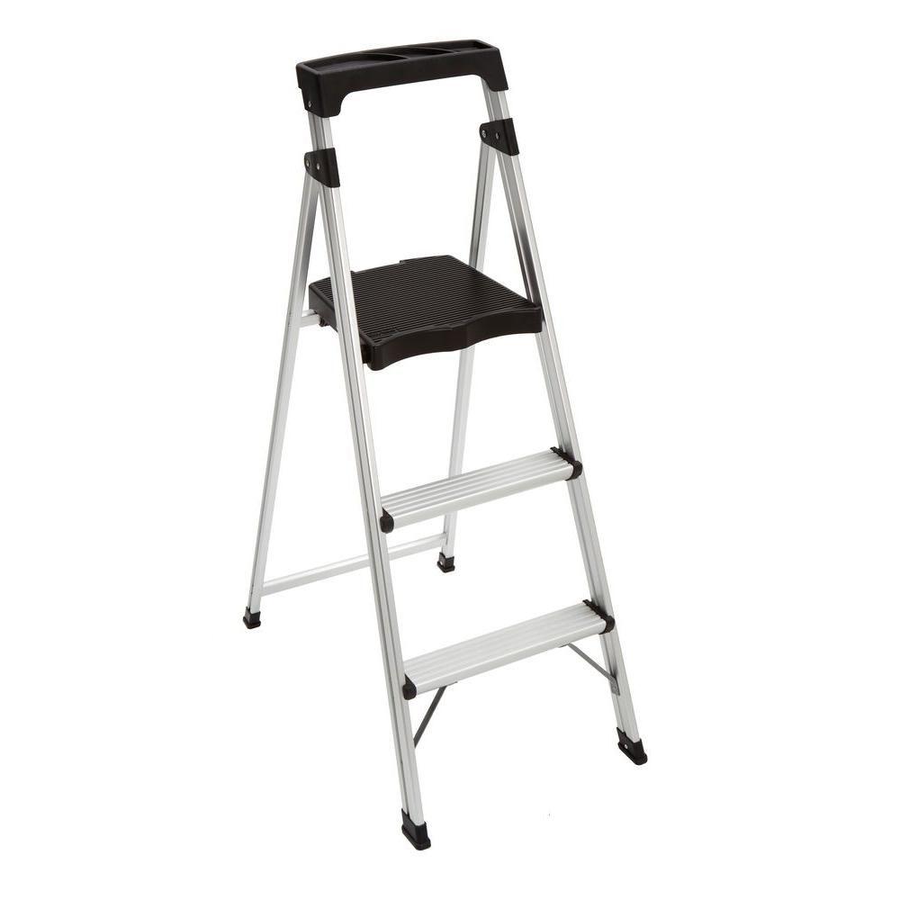 Easy Reach by Gorilla Ladders 3Step Aluminum UltraLight Step Stool
