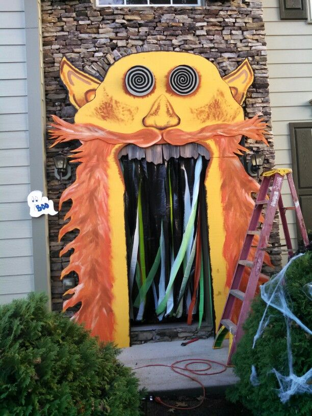 Front door Halloween entryway, Halloween 2020, Neon signs