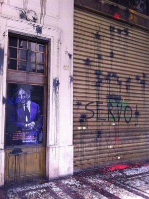 #Bobbio, i No Tav e quell'immagine imbrattata