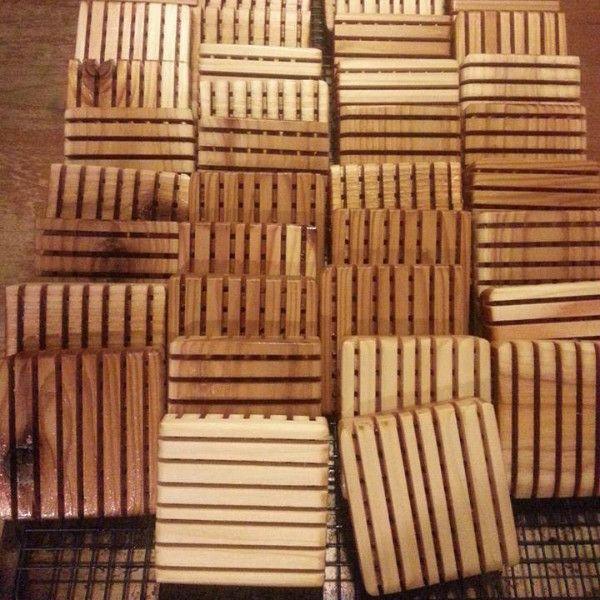 Hand-made Cedar Soap Dishes