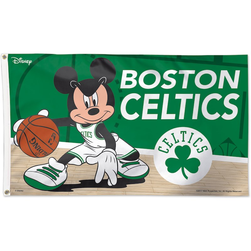 9044fbd77e1 Boston Celtics WinCraft Single-Sided 3' x 5' Deluxe Disney Flag ...