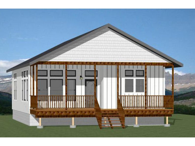30x40 House 2 Bedroom 2 Bath 1136 Sq Ft Pdf Floor Etsy In 2020 Small House Floor Plans House Small House Plans