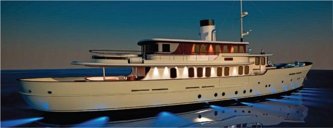 New 40m Classic Tri Deck Motor Yacht By Sarp Yachts Classic