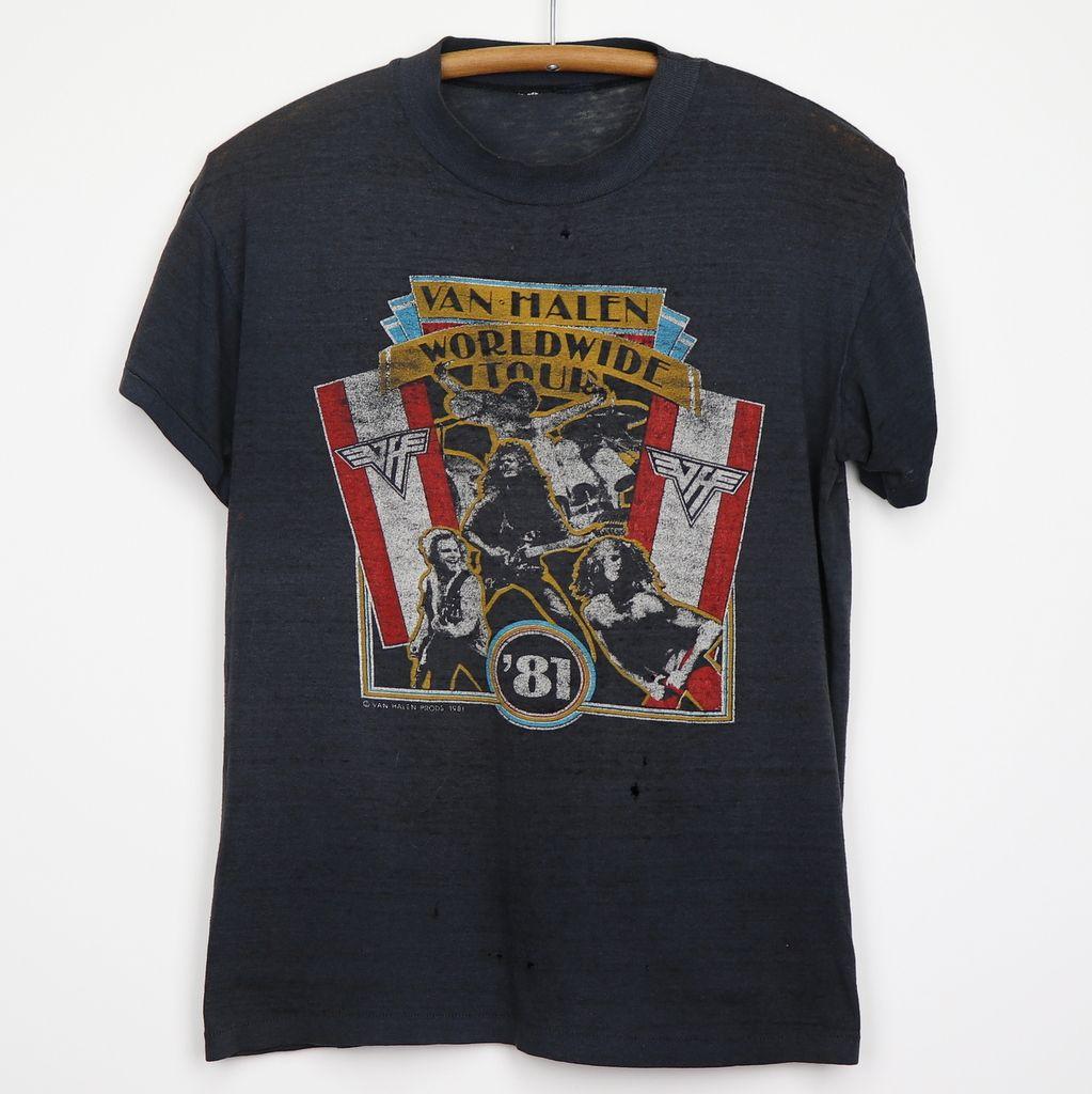 1981 Van Halen Fair Warning Tour Shirt Van Halen Fair Warning Tour Shirt Shirts