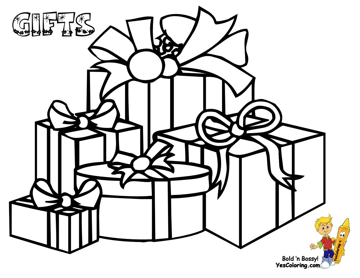 Christmas T Boxes Coloring Pages Download