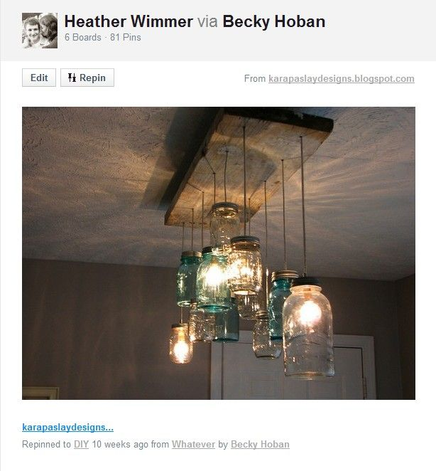 Take That Pottery Barn Diy Light Fixtures Mason Jar