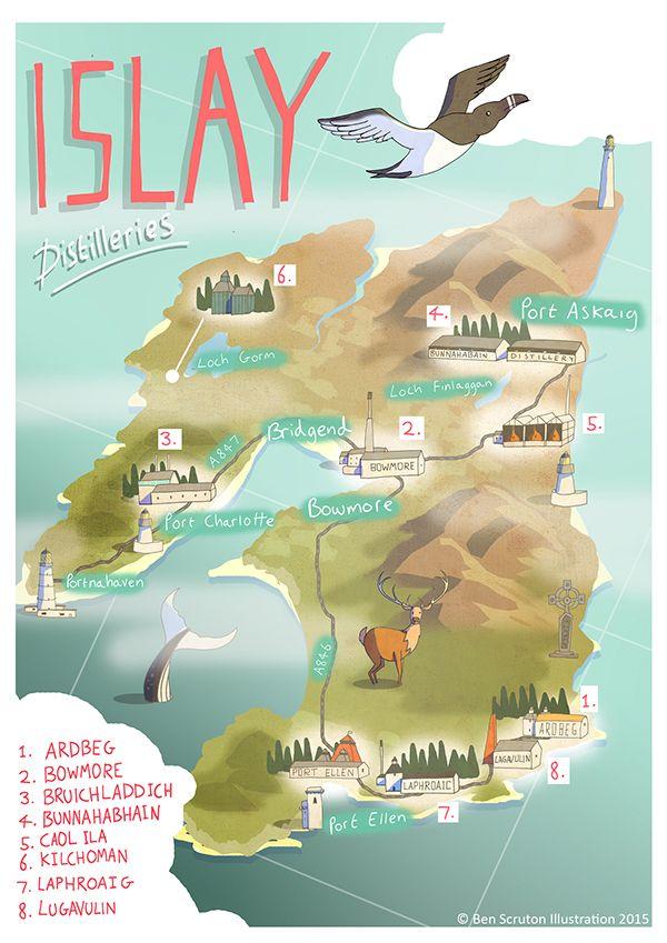 a1f6ed7b3 Islay Whisky Map