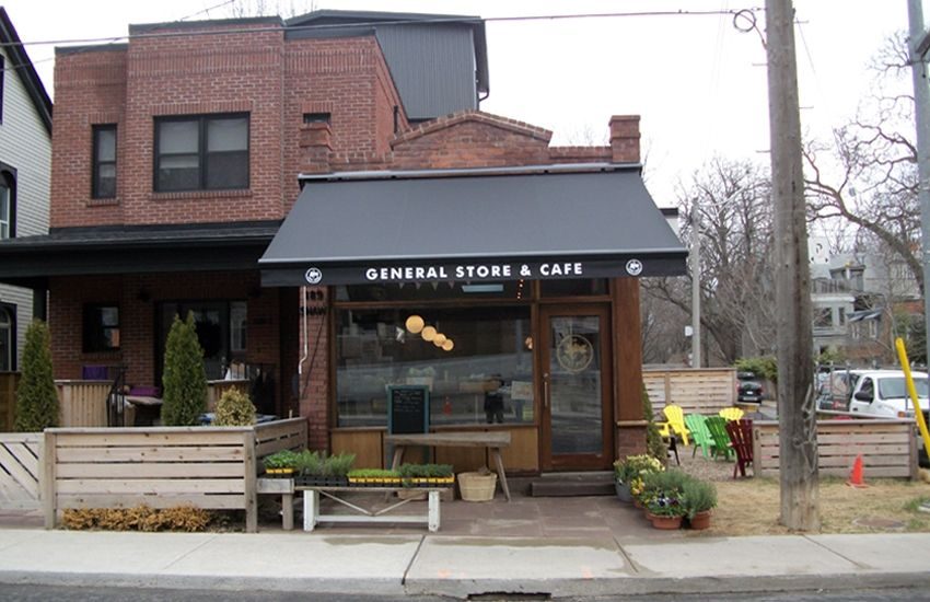 Lucky Penny- General Store & Cafe   Retractable awning ...