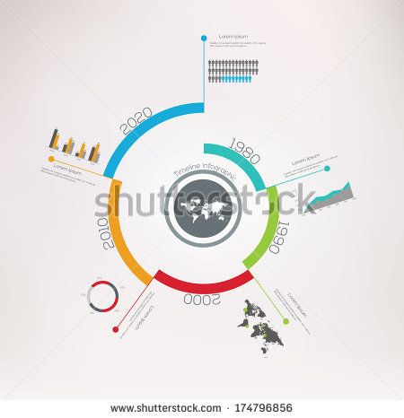 Spiral Timeline Infographics. Vector design template. by Antun ...