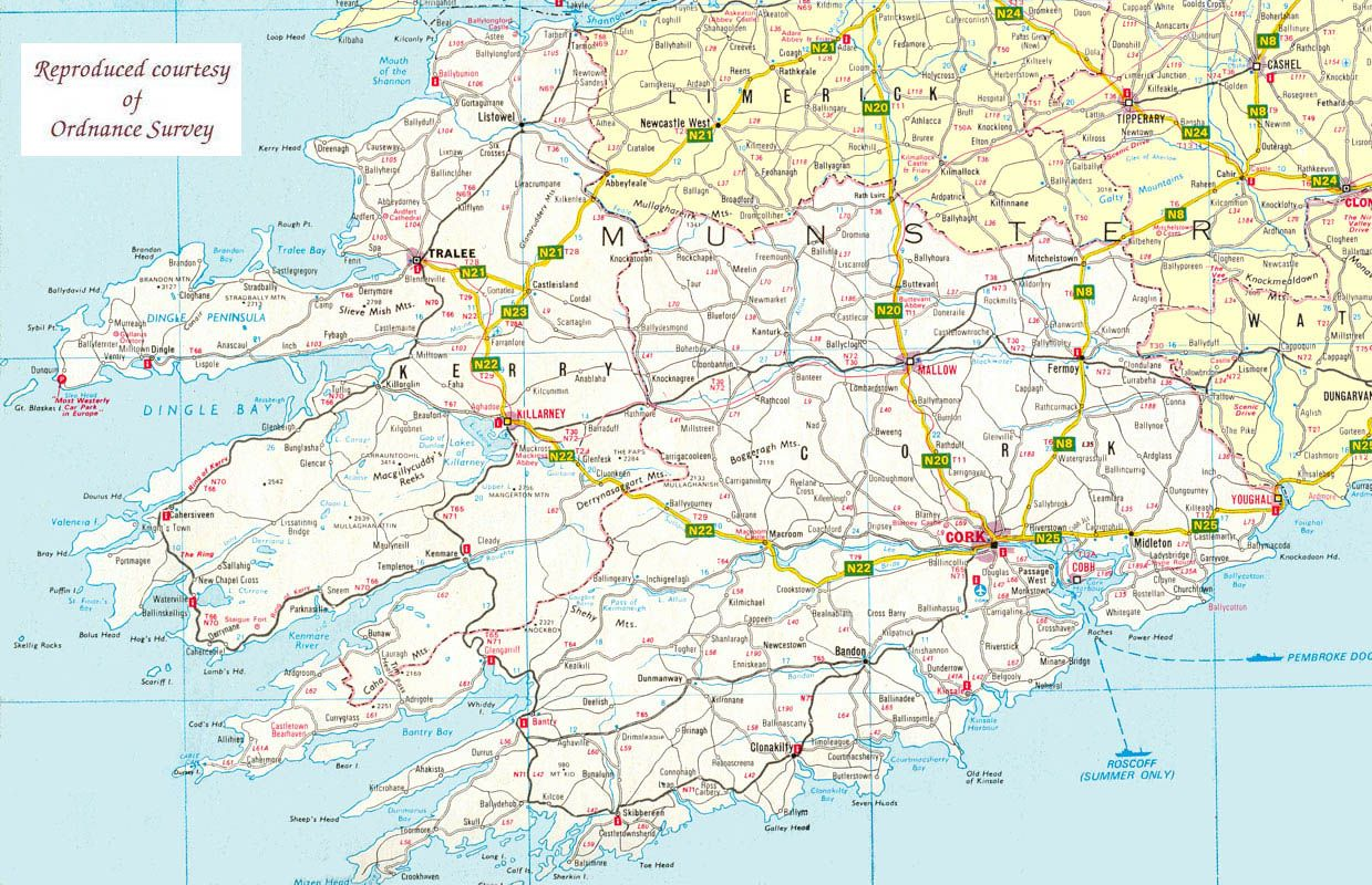 Map Of The South West Of Ireland Maps Pinterest Ireland Travel