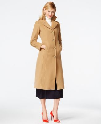 Anne Klein Petite Wool-Cashmere Maxi Walker Coat | Women's ...