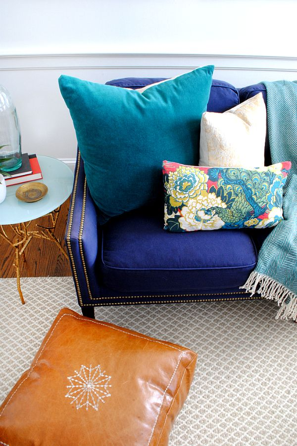 DIY Moroccan Leather Pouf | Leather pouf, Floor pillows and Moroccan
