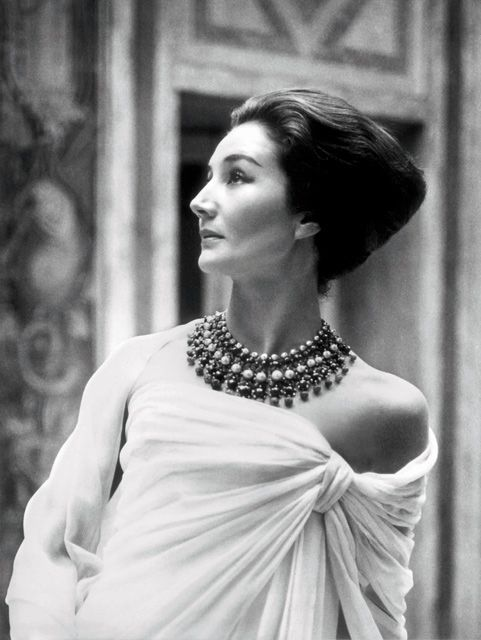 Jacqueline de Ribes in Christian Dior, 1959. Photograph by Roloff Beny