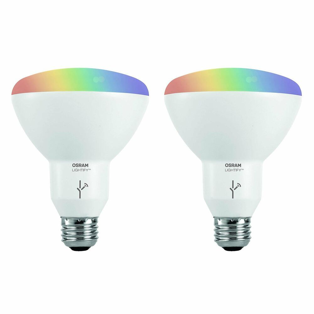 Sylvania Osram Lightify Smart Home 65w Br30 White Color Led Light Bulb 2 Bulbs Led Light Bulb Light Bulb Led Lights