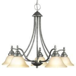@Overstock - Setting: Indoor  Fixture finish: Greystone  Shades: Etched marble glass http://www.overstock.com/Home-Garden/Woodbridge-Lighting-Anson-5-light-Greystone-Chandelier/6265197/product.html?CID=214117 $249.00