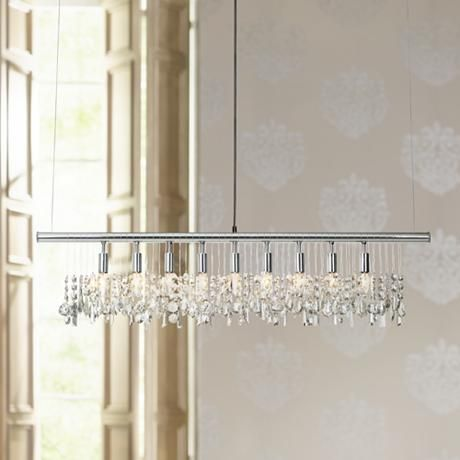 James R Moder Broadway Collection Crystal Bar Chandelier - Style - moder