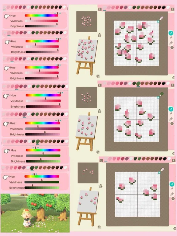 Pattern Cherry Blossom Petals Ac Newhorizons Animal Crossing Animal Crossing Qr Cherry Blossom Petals