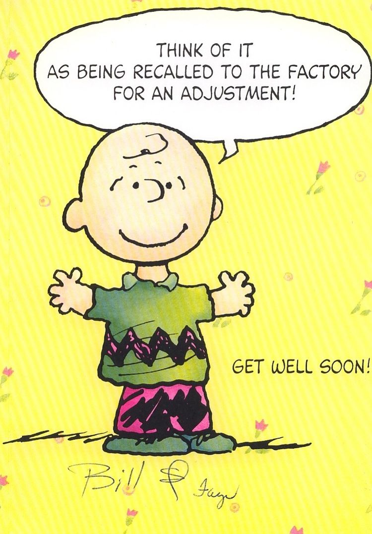 Get Well Greeting Card Snoopy Charlie Brown And The Gang