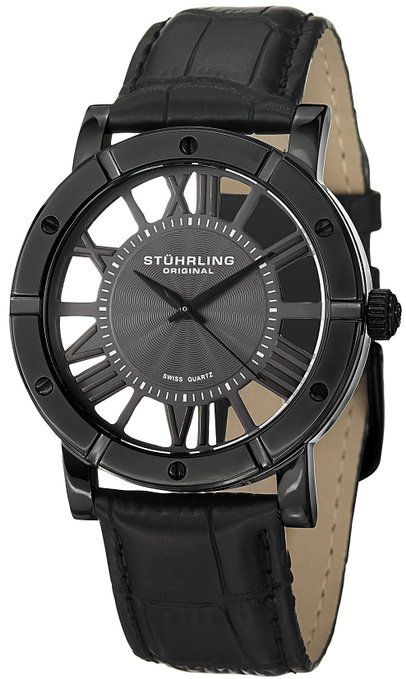 Stuhrling Original Men's 881.03 Classic Analog Display Swiss Quartz Black Watch Was 395.00 now 75.00 Great Father's Day Gift #gifts