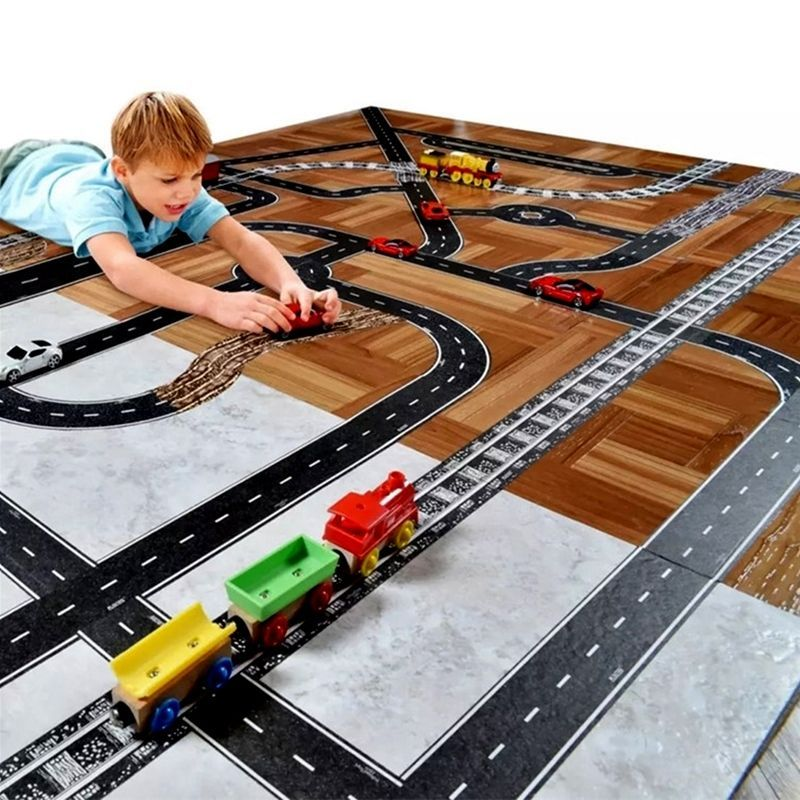 DIY Kids Turning Road Play Tape for Toy Adhesive Roll Floor Wall ...
