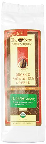 The Bean Coffee Company El Grano Suave (Classic Columbian Excelso Decaffeinated) Coffee, Organic Ground, 16-Ounce Bags (Pack of 2) - http://goodvibeorganics.com/the-bean-coffee-company-el-grano-suave-classic-columbian-excelso-decaffeinated-coffee-organic-ground-16-ounce-bags-pack-of-2/