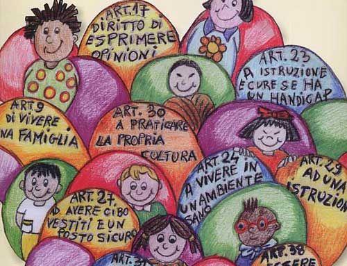 Attestato Bambini ~ Bandierine dei diritti dei bambini scuola vivere bene