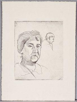 Calder - Untitled (Nanette Lederer and Alexander Stirling Calder), 1924 Etching, printed by the artist. Unsigned and unnumbered edition.