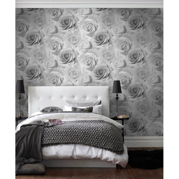 I Love Wallpaper Madison Rose Soft Grey Ilw010