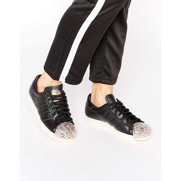 adidas Originals Black Superstar Sneakers With Copper Metal