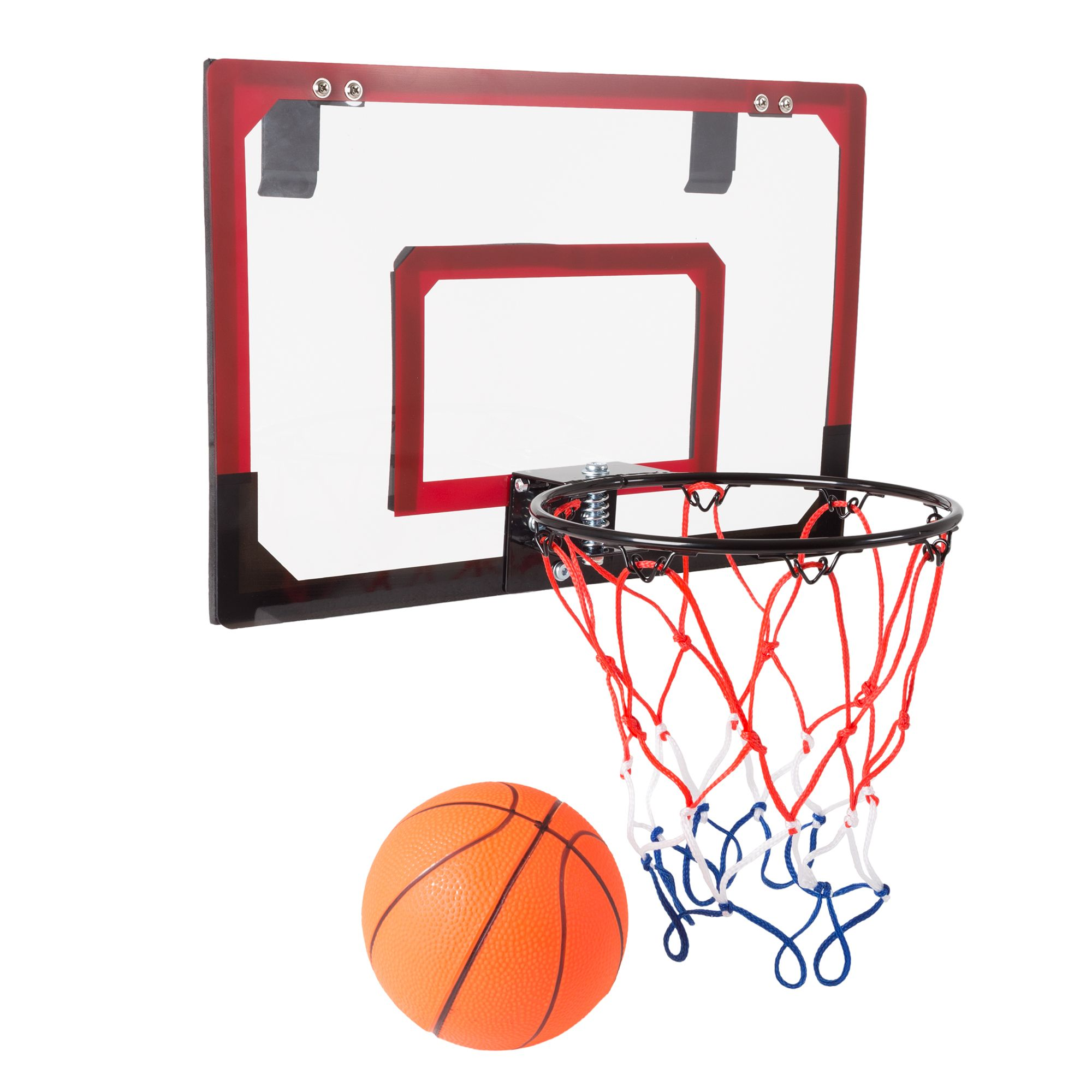 Mini Basketball Hoop With Ball And Breakaway Spring Rim For Over The Door Play By Hey Play Walmart Com Mini Basketball Hoop Mini Basketballs Basketball Hoop