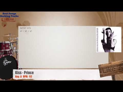 Kiss - Prince Drums Backing Track with chords and lyrics | Backing ...