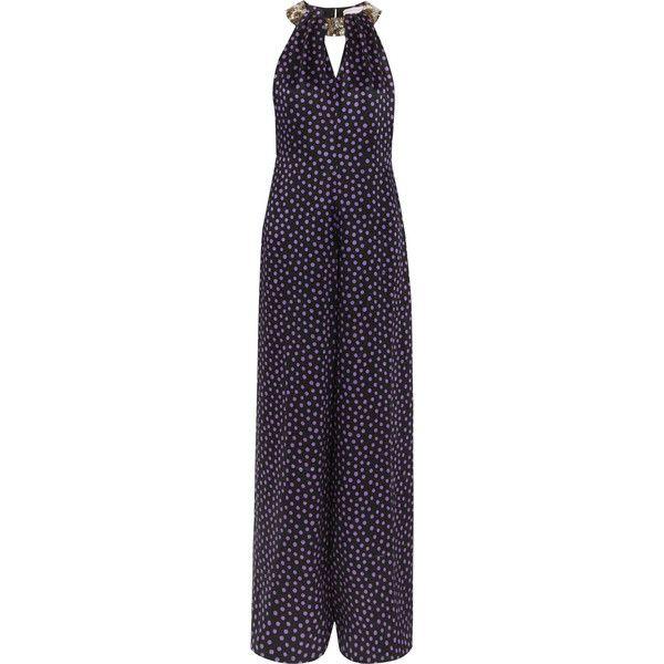 Matthew Williamson Embellished polka-dot silk-chiffon jumpsuit (13 870 UAH)  via
