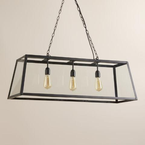 Crafted of clear glass panes set in a black iron frame our exclusive pendant lamp three dimensionalworld marketpendant