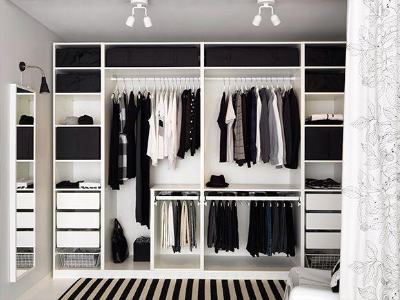 Ikea schlafzimmer ~ Ikea pax luxury walk in closet pinterest garderoben
