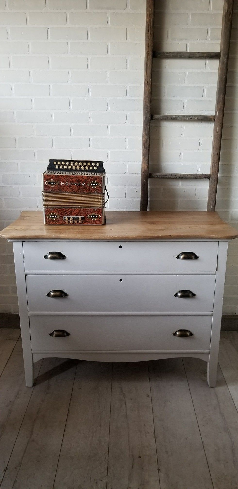 Wood Top Dresser Very Light Gray Bottom Furniture Projects Furniture Refinishing Furniture [ 2016 x 980 Pixel ]