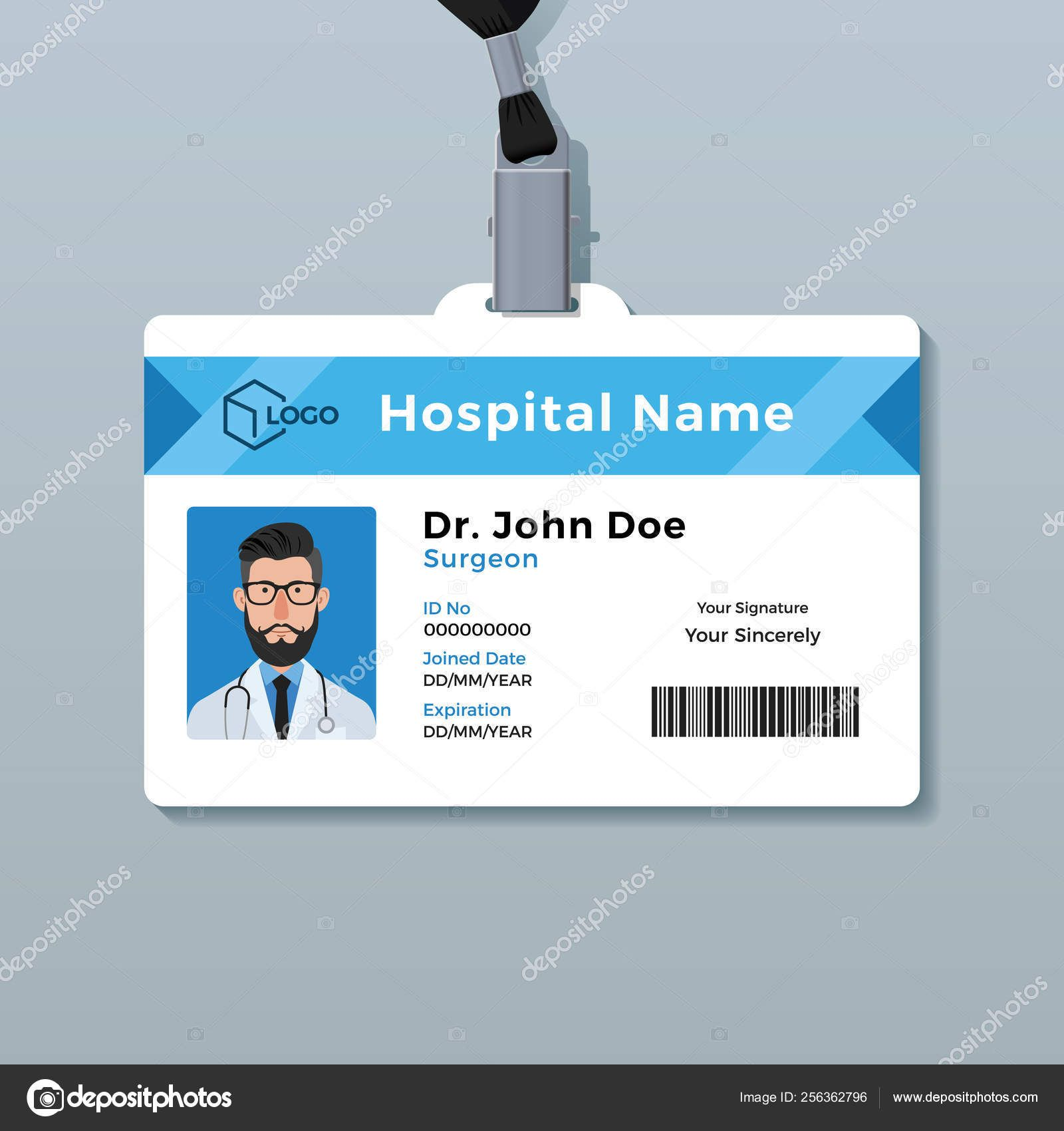 Medical Id Card Template Doctor Id Card Template Medical Intended For Personal Identification Car Id Card Template Card Template Business Card Template Word