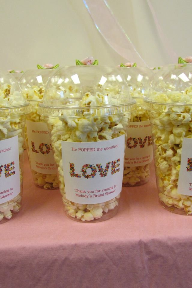 Bridal Shower Favors Diy He Popped The Question