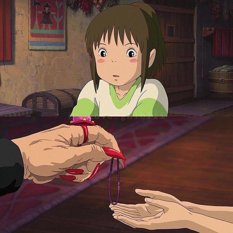 いいね 511件 コメント1件 そ ら I Love Ghiblii のinstagramアカウント 千と千尋の神隠し 銭婆にもらった髪留め 最後のシーンに髪留めが千尋の髪に残っているのは 全てが夢ではなく 本当にあったことだと示すためなんだそう 切ないですよね 2020
