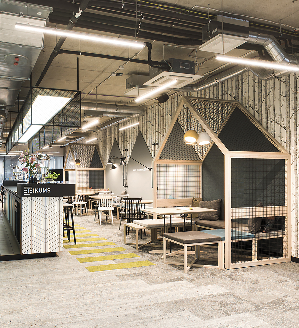 Interior of the coworking space «Teikums» by «Lauder