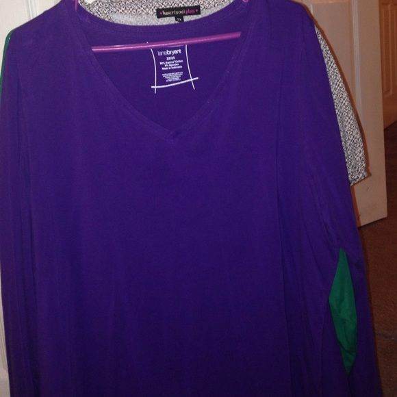 Long sleeve tee Brand new without tags Lane Bryant Tops Tees - Long Sleeve
