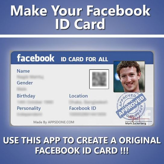 ONLINE Create Facebook ID Card Easily and Quickly Giveaway - id card